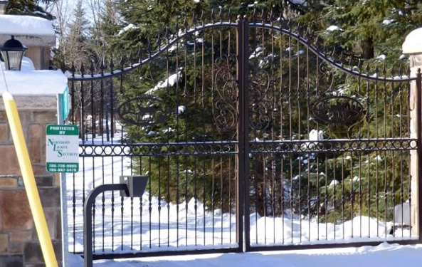 Gate with Security System